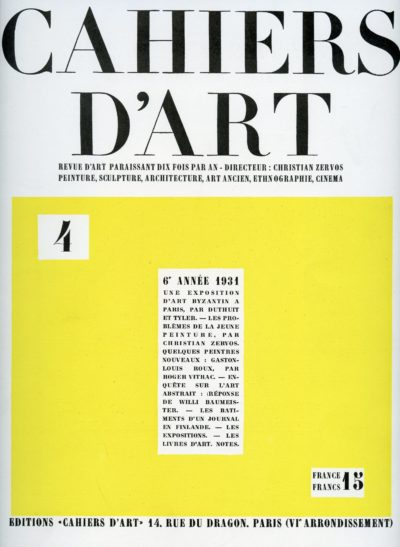 Cahier D'Art #4077